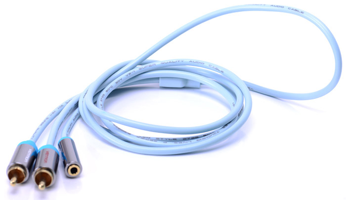 Vention VAB-R01-S100 Jack 3,5 mm F/2RCA M, Grey аудиокабель (1 м) кабель jack jack vention кабель minijack jack 2 m