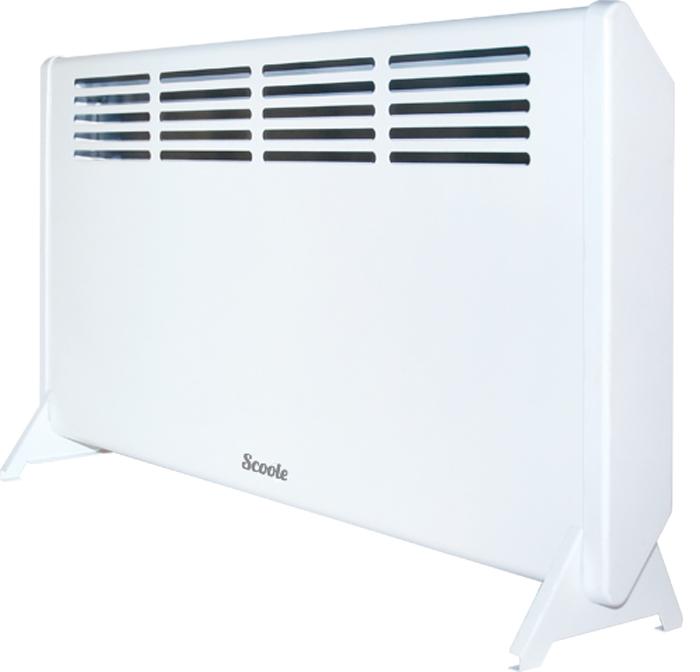 Scoole SC HT CM2 1000 WT конвекторSC HT CM2 1000 WTБытовой электрический конвектор Scoole SC HT CM2 1000 WT предназначен для обогрева и создания комфортной атмосферы в помещении в холодное время года. Данный нагревательный прибор удобен и прост в установке, эффективени экономичен в использовании в связи с минимальными потерями электроэнергии, повышенной теплоотдачей и максимально комфортным распределением теплового потока.