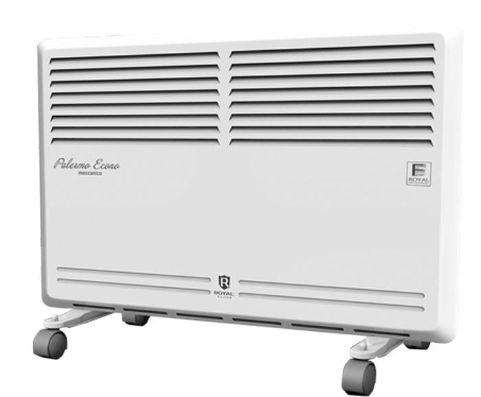 Royal Clima REC-PE1000M электрический конвекторREC-PE1000MКонвектор Royal Palermo Econo - это воплощение экономичности, универсальности и оптимального сочетания функций и режимов. Эффективная работа по обогреву осуществляется благодаря нагревательному CТИЧ-элементу FAST-ROYAL Heat Technology.В приборе данной серии предусмотрены все необходимые функции и опции, такие как защита от перегрева (безопасный нагрев лицевой панели), высокий класс электрозащиты, точный механический термостат с возможностью регулировки температуры. Компактные размеры и экономичное энергопотребление делают прибор идеальным для эксплуатации в небольших помещениях, а классический дизайн позволит легко вписать конвектор в любой интерьер.Увеличенная длина шнура питания: 1,5 метраВысококачественное порошковое покрытие, устойчивое к выцветанию и царапинам