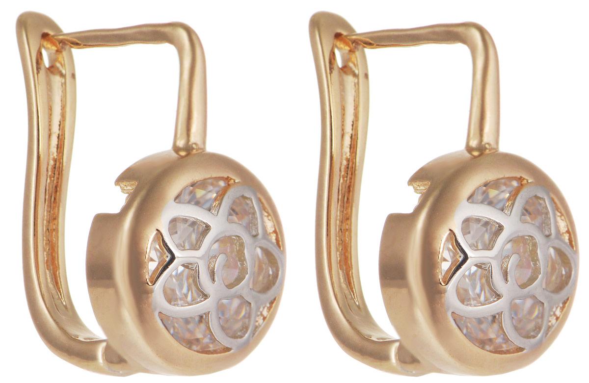 Серьги Taya, цвет: золотистый, серебристый. T-B-11691Серьги с подвескамиМодные позолоченные серьги Taya изготовлены из бижутерного сплава и оформлены цирконами. Застегивается изделие с помощью английского замка. Оригинальные серьги внесут изюминку, как в повседневный, так и в выходной образ и позволят выделиться среди окружающих.