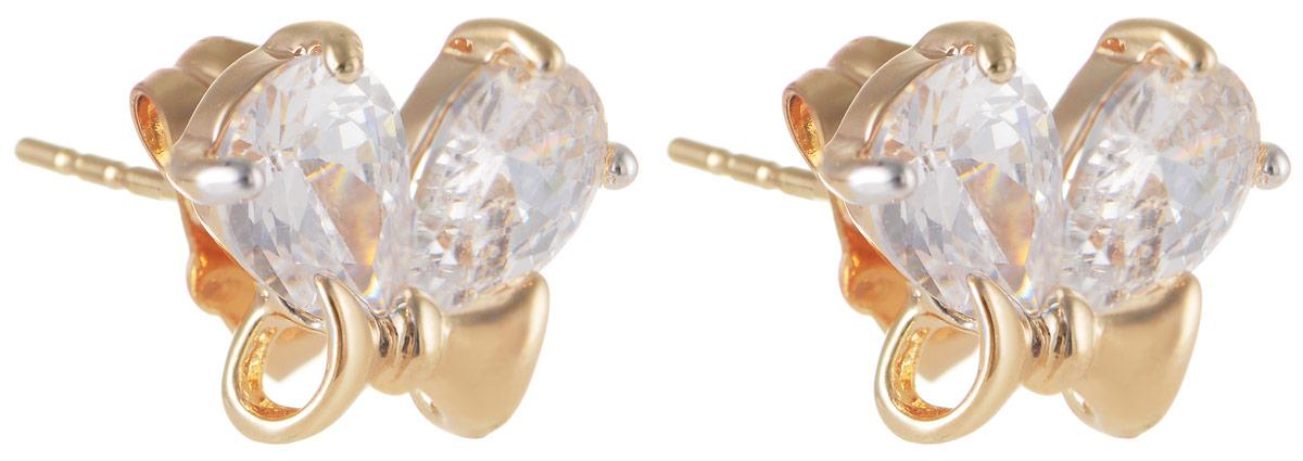Серьги Taya, цвет: золотистый. T-B-11646Серьги с подвескамиМодные позолоченные серьги-гвоздики Taya изготовлены из бижутерного сплава и оформлены цирконами. Изделие застегивается с помощью замка-гвоздика и металлической заглушки.Оригинальные серьги внесут изюминку, как в повседневный, так и в выходной образ и позволят выделиться среди окружающих.