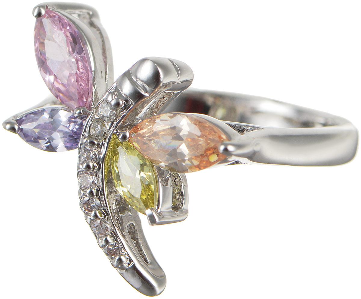 Кольцо женское Taya, цвет: серебристый, розовый, зеленый. T-B-4779Коктейльное кольцоОригинальное кольцо Taya выполнено из бижутерного сплава оформлено в виде стрекозы и дополнено цирконами. Такое кольцо это блестящее завершение вашего неповторимого и смелого образа и отличный подарок для ценительницы необычных украшений!