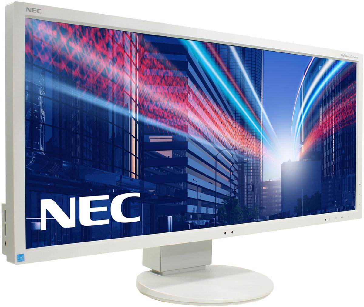 NEC EA294WMi, White монитор60003415Модель NEC EA294WMi обладает очень тонкой 29-дюймовой панелью 21:9 с разрешением 2560x1080, а также со светодиодной подсветкой и IPS-технологией, что обеспечивает ультрасовременный и ультратонкий дизайн. Благодаря новому формату, соответствующему экранной установке из двух обычных 19-дюймовых экранов, данная модель является отличной альтернативой для любых многоэкранных установок. Датчик внешней освещенности и датчик присутствия являются характеристиками, соответствующими экологичной концепции продукции, кроме того, данная модель обладает улучшенными эргономическими характеристиками, например, механизмом регулирования высоты до 130 мм. Новая характеристика Control Sync обеспечивает синхронизацию мультимониторной настройки, а стандарт MHL (Mobile High Definition Link) предоставляет прямую связь монитора с вашим смартфоном.Эргономичный офис - регулировка по высоте (130 мм), возможность поворота, наклона и вращения обеспечивает удобную установку с учетом индивидуальных требований пользователя.Датчик рассеянного света - благодаря функции автоматической яркости Auto Brightness всегда можно оптимизировать уровень яркости в зависимости от освещения и условий изображения.Датчик присутствия человека - определяет присутствие человека перед экраном и автоматически включает или выключает экран для экономии электроэнергии.