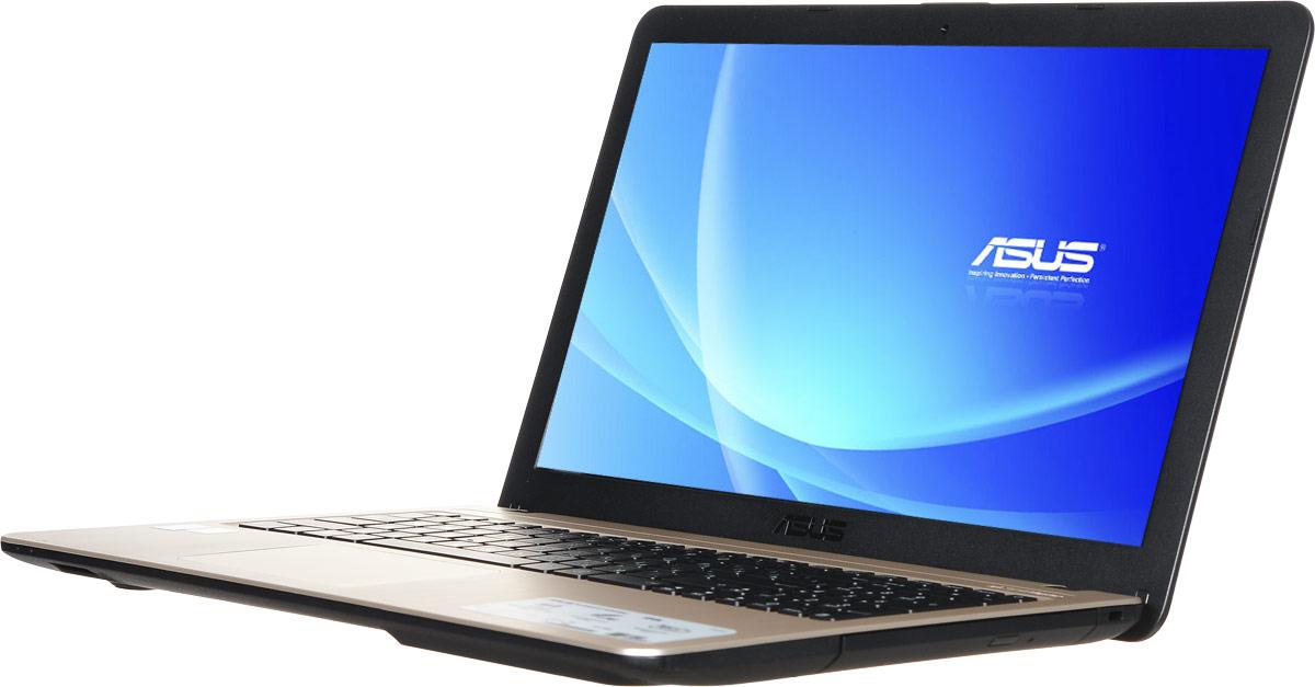 ASUS VivoBook X540LJ, Chocolate Black (90NB0B11-M03910)90NB0B11-M03910Asus VivoBook X540LJ - это современный ноутбук для ежедневного использования как дома, так и в офисе.Для быстрого обмена данными с периферийными устройствами VivoBook X540 предлагает высокоскоростной порт USB 3.1 (5 Гбит/с), выполненный в виде обратимого разъема Type-C. Его дополняют традиционные разъемы USB 2.0 и USB 3.0. В число доступных интерфейсов также входят HDMI и VGA, которые служат для подключения внешних мониторов или телевизоров, и разъем проводной сети RJ-45. Кроме того, у данной модели имеются оптический привод и кард-ридер формата SD/SDHC/SDXC.Благодаря эксклюзивной аудиотехнологии SonicMaster встроенная аудиосистема ноутбука может похвастать мощным басом, широким динамическим диапазоном и точным позиционированием звуков в пространстве. Кроме того, ее звучание можно гибко настроить в зависимости от предпочтений пользователя и окружающей обстановки. Для настройки звучания служит функция AudioWizard, предлагающая выбрать один из пяти вариантов работы аудиосистемы, каждый из которых идеально подходит для определенного типа приложений (музыка, фильмы, игры, звукозапись и воспроизведение голоса).Asus VivoBook X540LJ выполнен в прочном, но легком корпусе весом всего 1,9 кг, поэтому он не будет обременять своего владельца в дороге, а привлекательный дизайн и красивая отделка корпуса превращают его в современный, стильный аксессуар.В данной модели реализована технология Splendid, позволяющая выбрать один из нескольких предустановленных режимов работы дисплея, каждый из которых оптимизирован под определенные приложения: режим Vivid подходит для просмотра фотографий и фильмов, режим Normal - для обычной работы в офисных приложениях, а в специальном режиме Eye Care реализована фильтрация синей составляющей видимого спектра для повышения комфорта при чтении с экрана. Кроме того, имеется режим Manual, в котором параметры цветопередачи можно настроить вручную.Эргономичная клавиатура этого ноутбук