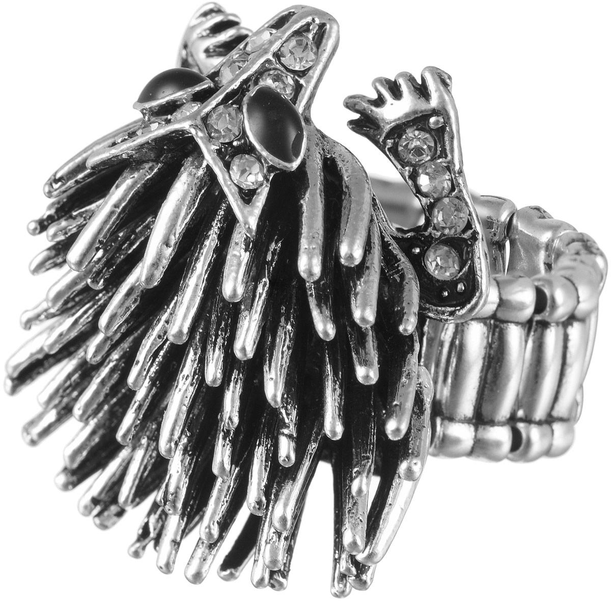 Кольцо женское Taya, цвет: серебристый. T-B-9257Коктейльное кольцоСтильное кольцо Taya выполнено из бижутерного сплава оформлено в виде дикобраза и дополнено стразами. Обхват кольца регулируется при помощи эластичной резиночки. Такое кольцо модного дизайна поможет создать уникальный и запоминающийся образ.