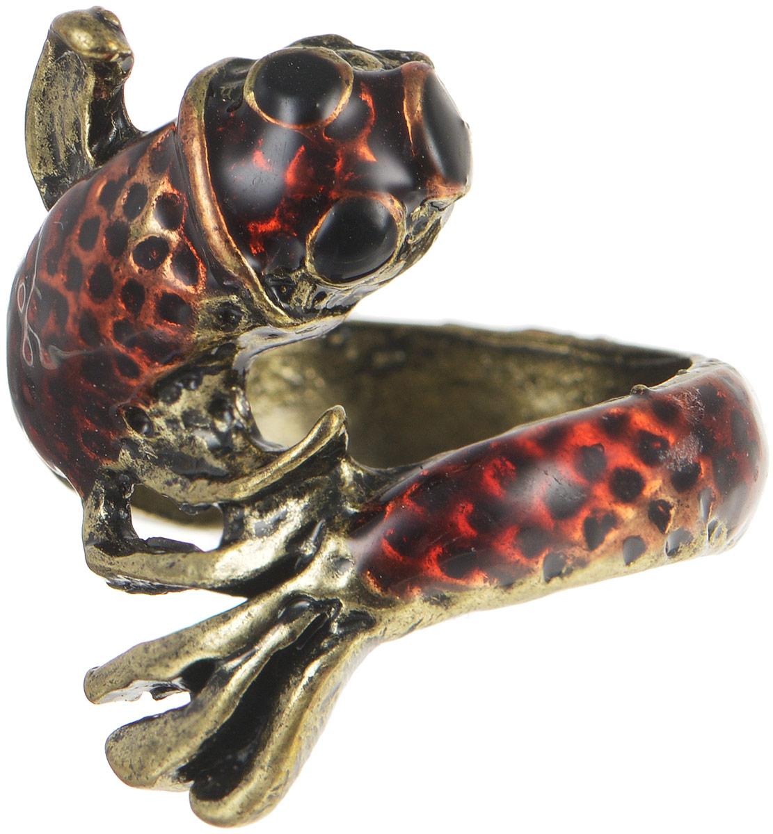 Кольцо YusliQ. Ручная авторская работа. 26-023Коктейльное кольцоСтильное кольцо YusliQ выполнено из металла в виде рыбы, оформлено эмалью. Такое кольцо это блестящее завершение вашего неповторимого и смелого образа и отличный подарок для ценительницы необычных украшений!