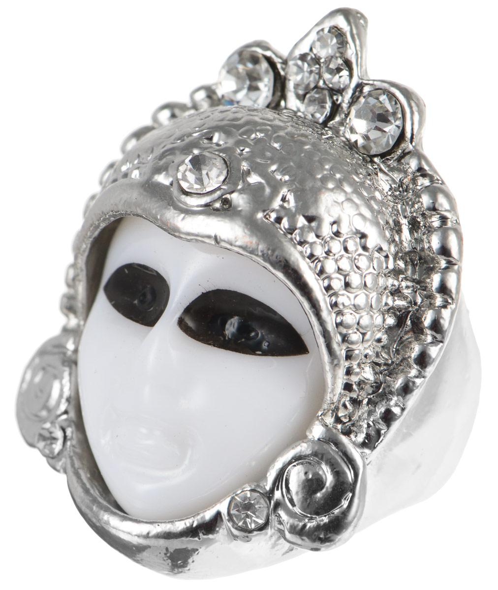 Кольцо YusliQ. Ручная авторская работа. 26-020Коктейльное кольцоАвторское кольцо ручной работы YusliQ выполнено из металла в виде маски и оформлено стразами. Такое кольцо это блестящее завершение вашего неповторимого и смелого образа и отличный подарок для ценительницы необычных украшений!