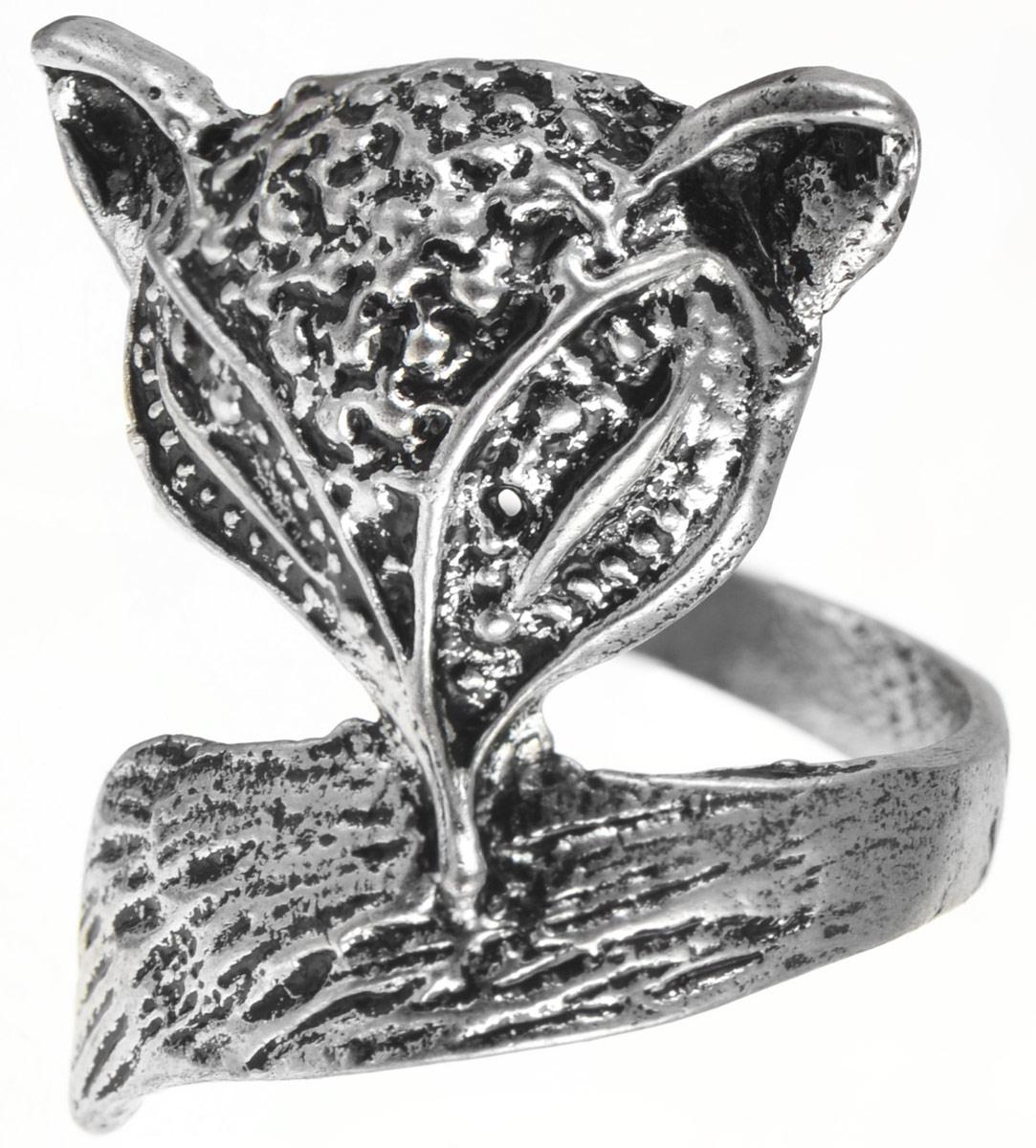 Кольцо YusliQ. Ручная авторская работа. 26-003Коктейльное кольцоСтильное кольцо YusliQ выполнено из металла и оформлено в виде головы и хвоста лисы. Такое кольцо это блестящее завершение вашего неповторимого и смелого образа и отличный подарок для ценительницы необычных украшений!