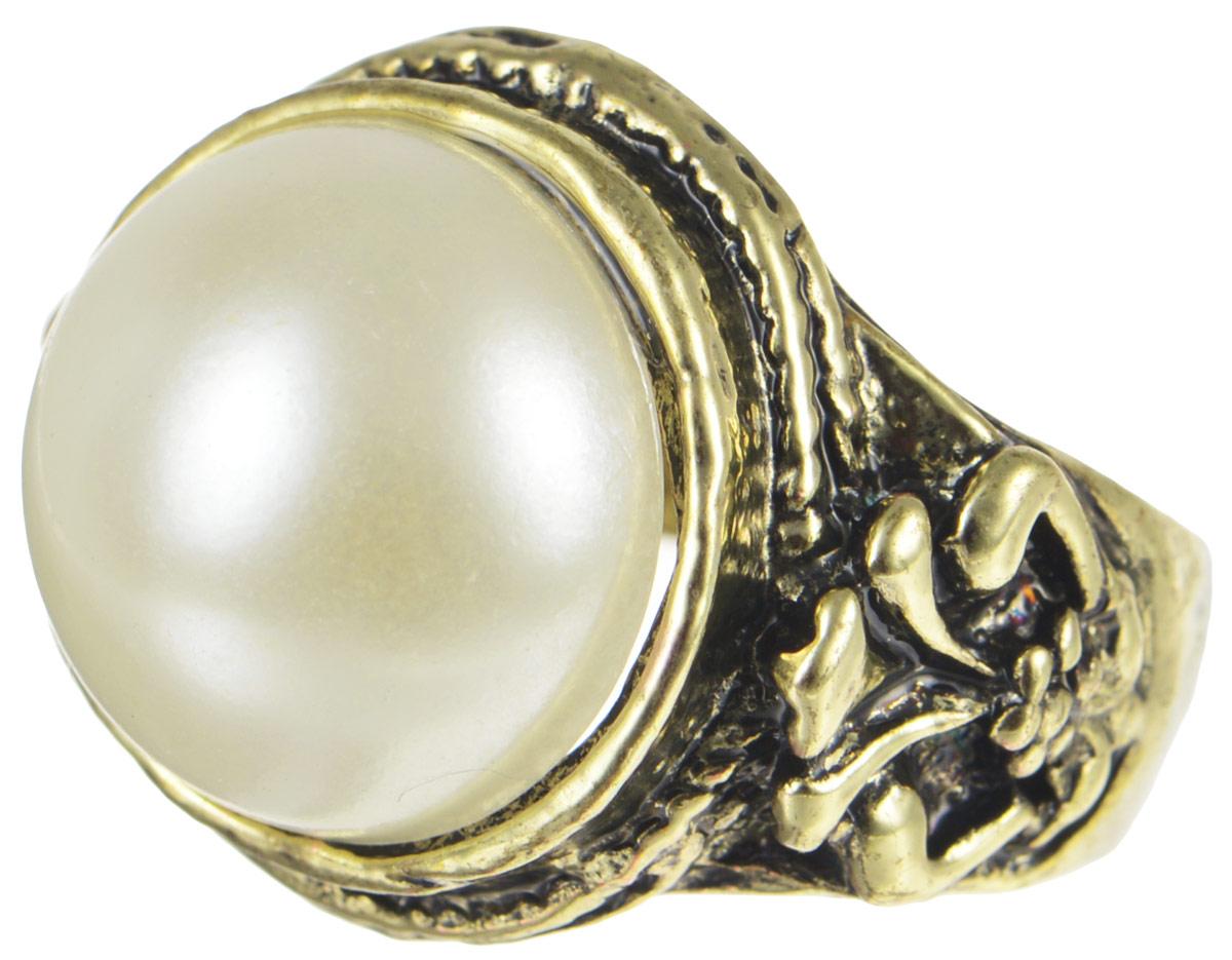 Кольцо YusliQ Жемчужина. Ручная авторская работа. 26-014Коктейльное кольцоСтильное кольцо YusliQ Жемчужина выполнено из металла и декорировано искусственным жемчугом.Такое кольцо это блестящее завершение вашего неповторимого и смелого образа и отличный подарок для ценительницы необычных украшений!