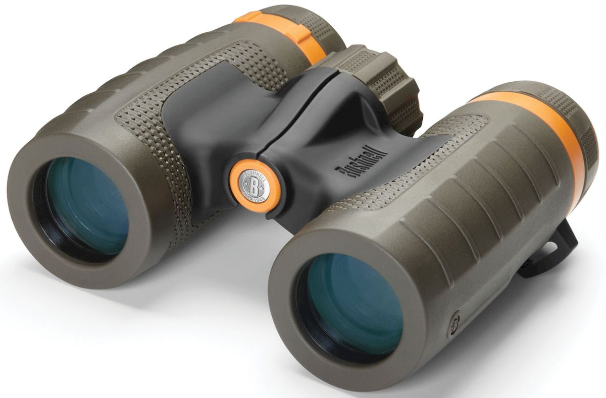 Бинокль Bushnell Off Trail 10x 28, цвет: серо-зеленый бинокль bushnell 10x42 natureview 224210