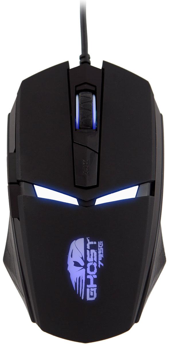 Oklick 795G, Black мышь игровая315496Игровая мышь Oklick 795G Ghost поможет в игре быть ловким и неуловимым, как призрак! Благодаря эргономичному дизайну, мышь отлично ложится в руку, позволяя с удобством проводить время за компьютером на протяжении долгого времени.Симметричный корпус мыши выполнен из прочного черного пластика, фронтальная сторона имеет приятное на ощупь покрытые Soft-touch. Мышь оснащена 6 элементами управления: правой и левой кнопками, колесом прокрутки и кнопкой переключения DPI на фронтальной панели, а также двумя кнопками Вперед, Назад на левой стороне мыши. Oklick 795G Ghost подключается к компьютеру или ноутбуку посредством USB.