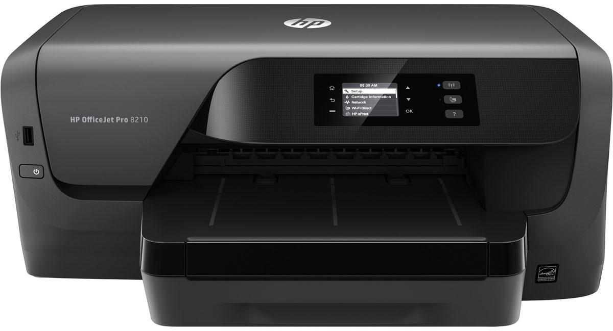 HP Officejet Pro 8210 принтер струйный (D9L63A)D9L63AСтруйный принтер HP Officejet Pro 8210 обеспечит профессиональное качество офисной цветной печати по доступной цене.Экономьте на затратах благодаря цветной печати профессионального качества по цене на 50 % ниже, чем при использовании лазерных принтеров. Дополнительные струйные картриджи HP увеличенной емкости позволяют печатать втрое больше страниц. Оцените профессиональное качество цветной и черно-белой печати, которая идеально подходит для создания отчетов, писем и других документов. Напечатанные материалы устойчивы к выцветанию, воздействию влаги и не смазываются при выделении маркером.Все что нужно для эффективной работыБлагодаря поддержке двусторонней печати вы сможете быстрее справляться с заданиями. Выполняйте печать файлов Microsoft Word и PowerPoint, а также Adobe PDF напрямую с USB-накопителя. Устройство оснащено дисплеем с диагональю 5,08 см (2) и клавиатурой для удобного ввода данных и обеспечения эффективности работы. Оно рассчитано на печать до 30000 страниц в месяц и обслуживание до пяти пользователей. Оно отлично подойдет для загруженного офиса.Решение мобильной печати, которое поможет развитию вашей компанииПечатайте напрямую с мобильных устройств из любого места в офисе без подключения к корпоративной сети.Благодаря возможностям беспроводной связи вы легко можете печатать документы, фотографии и другие материалы со смартфона или планшета.Полный контроль парка устройств, эффективное управлениеИспользуйте дополнительные функции печати благодаря поддержке HP PCL 6, HP PCL 5с, HP PS и масштабируемым шрифтам TrueType. HP Web Jetadmin обеспечит единый центр управления всеми компонентами среды печати. Общий драйвер сделает доступ к печати удобным для всех сотрудников.Дополнительное ПО HP JetAdvantage Security Manager — это основанная на политиках защита всего парка устройств.