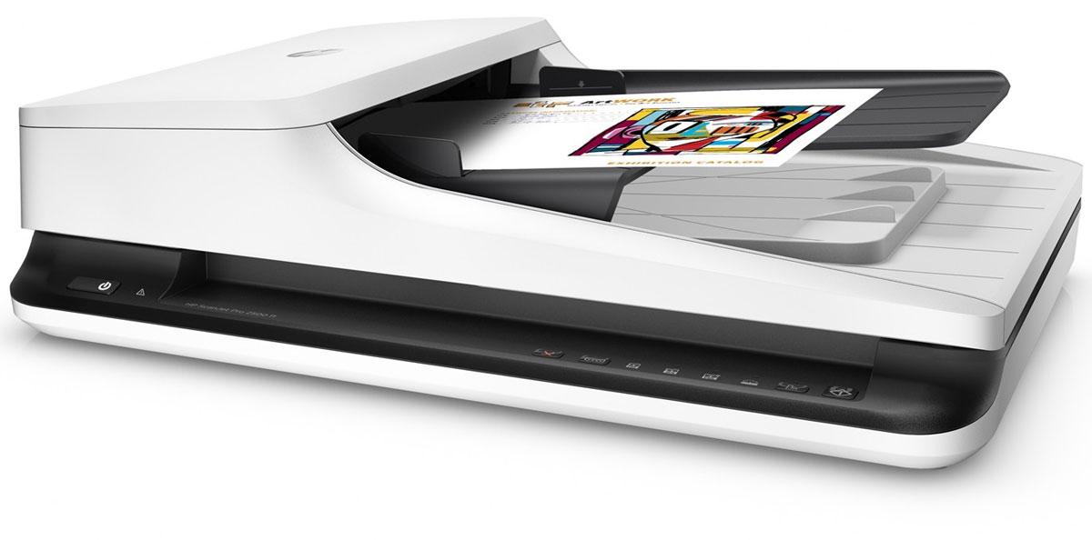 HP ScanJet Pro 2500 f1 сканер (L2747A)L2747AКомпактный сканер HP ScanJet Pro 2500 f1 повышает эффективность выполнения повседневных задач сканирования. Автоматизация рабочего процесса обеспечивается благодаря быстрому двухстороннему сканированию, устройству автоматической подачи документов на 50 страниц, ежедневному рабочему циклу 1500 страниц и быстрому вызову функций одной кнопкой. Кроме того, вы сможете быстро захватывать и редактировать текст из документов.Увеличение производительности благодаря быстрой и универсальной процедуре сканирования. Получение до 40 изображений в минуту при использовании двухстороннего сканирования и устройства автоматической подачи документов на 50 листов.Устройство автоматической подачи документов подходит для страниц размером до 21,6 см х 309,9 см (8,5 х 122), а планшет обеспечивает сканирование крупногабаритных носителей. Длительная подготовка больше не нужна: технология мгновенного включения lnstant-оп позволяет быстро начать сканирование.Сканер HP ScanJet отличается компактными размерами и современным дизайном — идеальное решение для настольного использования.Автоматизация и организация рабочего процессаОптимизируйте стандартные операции: записывайте нужные настройки сканирования и вызывайте их нажатием одной кнопки. Определение профилей сканирования для распространенных типов документов и отправка результатов в несколько мест назначения с помощью программного обеспечения HP Scan.Быстрый обмен и архивирование изображений сканирования непосредственно в популярные облачные хранилища с помощью программы HP Scan.Полнофункциональный драйвер TWAIN от HP позволяет сканировать непосредственно в приложения без необходимости сторонних программ.Разрешение до 1200 dpi обеспечивает четкое и реалистичное воспроизведение документов, графиков и фотографий. Удобное редактирование и систематизация документов и фотографий достигается с помощью многофункционального программного пакета. Функции автоматической обработки изображений входящего в комплект