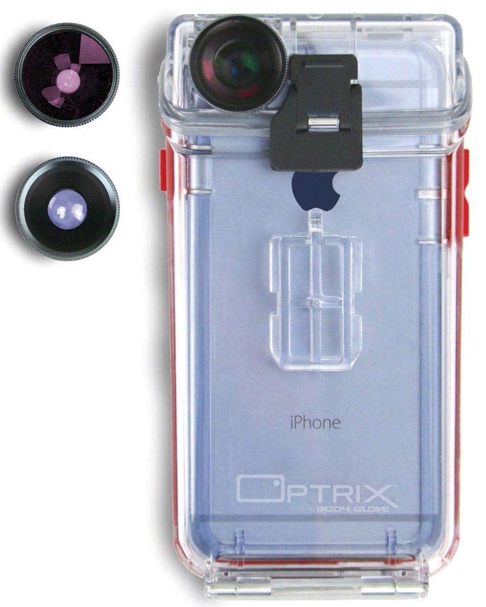 Optrix Photo FS-94767 чехол для Apple iPhone 6/6s с комплектом аксессуаров для фотосъемкиFS-94767Optrix Photo FS-94767 - набор для создания уникальных фотографий и видео при помощи вашего iPhone 6/6s. Ультралегкий защитный корпус обеспечит сохранность устройства в любых экстремальных условиях, тогда как сменные линзы значительно расширят возможности его камеры.Чехол отличается надежной конструкцией, превращающей ваш iPhone в полноценную экшн-камеру: съемка во время сплава по реке, велопрогулки, катания на лыжах, пляжного отдыха - все это возможно теперь при помощи Apple iPhone 6/6s.100% водонепроницаемость при погружении на глубину до 4,5 м (соответствует стандарту IP68)Ударопрочность: выдерживает падение с высоты до 6,1 м (соответствует стандарту MIL-STD-810G)Сверхпрочный корпус, сохраняющий весь функционал смартфонаСпециальная защитная мембрана сохраняет все свойства сенсорного экранаПодходит к широкому ассортименту креплений