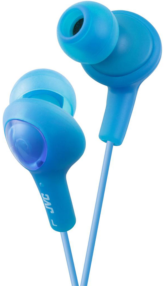 JVC Gumy Plus HA-FX5-A, Blue наушникиHA-FX5-AНаушники JVC Gumy Plus HA-FX5-A из мягкой резины обеспечивают комфортное и удобное прилегание. Благодаря неодимовому магниту, используемому в 11 мм драйверах, вы получаете качественное звучание и отличные басы. Наушники имеют кабель длиной 1 м с позолоченным штекером.