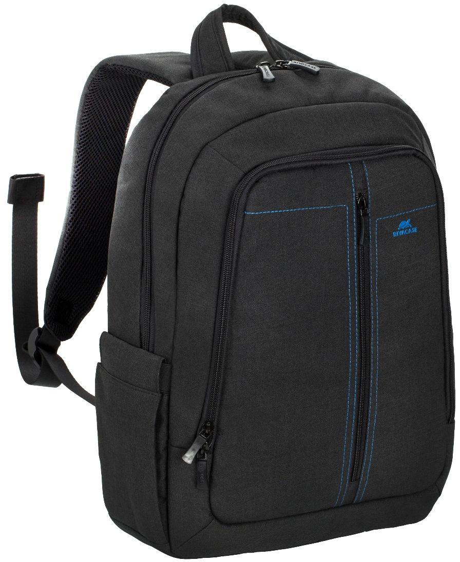 Riva 7560, Black рюкзак для ноутбука 15,66612Riva 7560 - стильный городской рюкзак из высококачественной, водоотталкивающей ткани. Он достаточно легкий, но имеет утолщенные стенки для защиты ноутбука от случайных ударов и царапин, а также от пыли и влаги.Основное отделение с вертикальной загрузкой имеет мягкие стенки и ремень для надежной фиксации ноутбука до 15.6. Также имеется дополнительное внутреннее отделение для планшета с диагональю до 10.1.Внешний передний карман на молнии оборудован панелью-органайзером для хранения визитных карт, флэш-накопителей, смартфона.Удобная мягкая ручка для переноски и наплечные ремни со смягчающими подкладками помогут чувствовать себя комфортно в самом долгом путешествии. Специальная система крепления ремешков на липучке закрепляет их и создает дополнительное удобство.Два боковых кармана для ёмкостей с водойДвойная застежка молния для удобного доступа к устройству