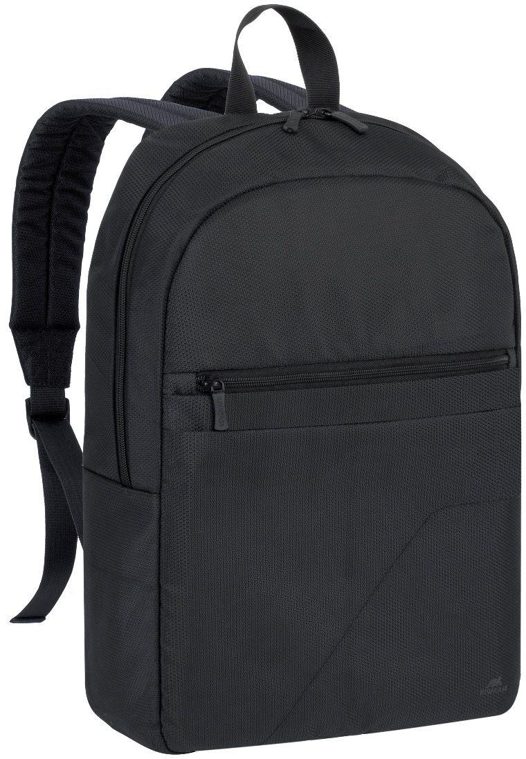 """Riva 8065, Black рюкзак для ноутбука 15.66669Riva 8065 - это легкий, бюджетный рюкзак для ноутбуков до 15.6"""". Рюкзак выполнена из плотного синтетического материала и имеет утолщенные стенки для лучшей защиты ноутбука от случайных ударов и царапин, а также от пыли и влаги. Основное отделение для ноутбука с вертикальной загрузкой, имеет мягкие стенки и ремень для надежной фиксации ноутбука до 15.6. Также имеется дополнительное внутреннее отделение для планшета до 10.1. Есть два внешних передних кармана: один на молнии, второй на липучке предназначены для хранения аксессуаров, смартфона. Двойная застежка молния для удобного доступа к устройству. Удобная ручка для переноски и наплечные ремни со смягчающими подкладками помогут чувствовать себя комфортно в самом долгом путешествии."""