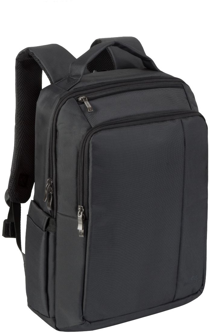 Riva 8262, Black рюкзак для ноутбука 15,66695Riva 8262 - рюкзак для деловых поездок и туристических путешествий. Он изготовлен из плотного синтетического материала и имеет утолщенные стенки для лучшей защиты ноутбука от случайных ударов и царапин, а также от пыли и влаги.Основное отделение с вертикальной загрузкой имеет мягкие стенки и ремень для надежной фиксации ноутбука до диагонали 15.6 и просторную секцию для хранения книг и документов. Также имеется дополнительное внутреннее отделение для планшета с диагональю до 10.1.Передний карман на молнии предназначен для хранения аксессуаров, зарядного устройства. Он оборудован органайзером для хранения визитных карт, авторучек, смартфона.Удобная мягкая ручка для переноски и наплечные ремни со смягчающими подкладками помогут чувствовать себя комфортно в самом долгом путешествии.На задней стенке имеется ремень крепления к багажной сумкеНа верхней панели карман на молнии для смартфона, 7 планшетаДва боковых кармана для ёмкостей с водойСпециальная система крепления ремешков на липучке