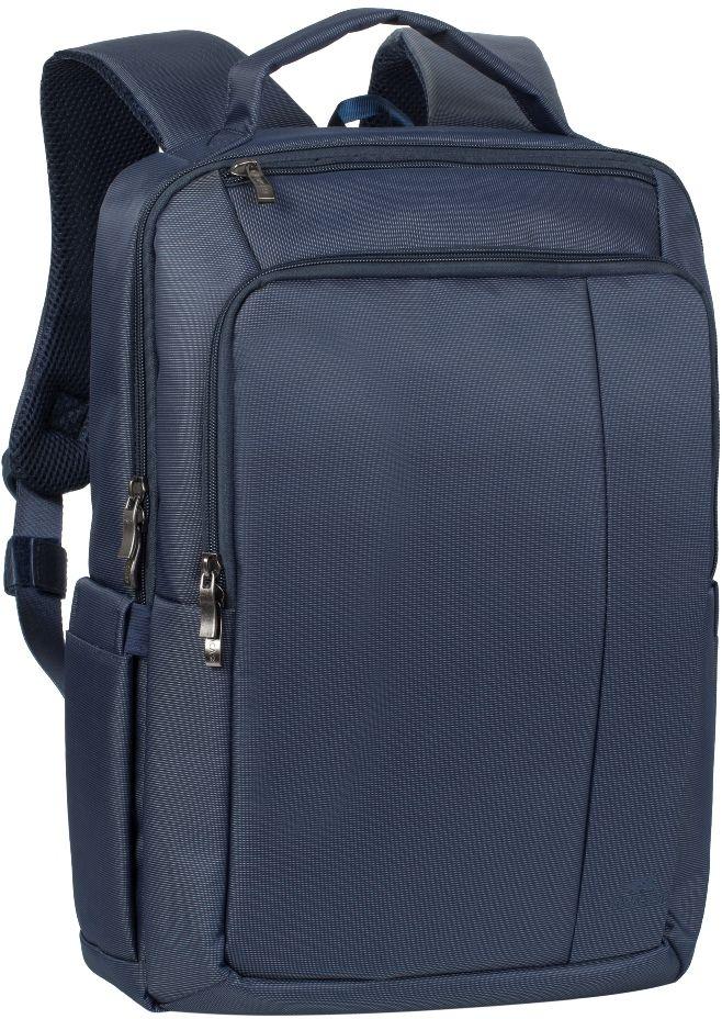 Riva 8262, Blue рюкзак для ноутбука 15,66696Riva 8262 - рюкзак для деловых поездок и туристических путешествий. Он изготовлен из плотного синтетического материала и имеет утолщенные стенки для лучшей защиты ноутбука от случайных ударов и царапин, а также от пыли и влаги.Основное отделение с вертикальной загрузкой имеет мягкие стенки и ремень для надежной фиксации ноутбука до диагонали 15.6 и просторную секцию для хранения книг и документов. Также имеется дополнительное внутреннее отделение для планшета с диагональю до 10.1.Передний карман на молнии предназначен для хранения аксессуаров, зарядного устройства. Он оборудован органайзером для хранения визитных карт, авторучек, смартфона.Удобная мягкая ручка для переноски и наплечные ремни со смягчающими подкладками помогут чувствовать себя комфортно в самом долгом путешествии.На задней стенке имеется ремень крепления к багажной сумкеНа верхней панели карман на молнии для смартфона, 7 планшетаДва боковых кармана для ёмкостей с водойСпециальная система крепления ремешков на липучке