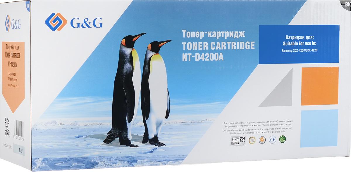 G&G NT-D4200A тонер-картридж для Samsung SCX-4200NT-D4200AТонер-картридж G&G NT-D4200A для лазерных принтеров Samsung SCX-4200.Расходные материалы G&G для лазерной печати максимизируют характеристики принтера. Обеспечивают повышенную чёткость чёрного текста и плавность переходов оттенков серого цвета и полутонов, позволяют отображать мельчайшие детали изображения. Обеспечивают надежное качество печати.