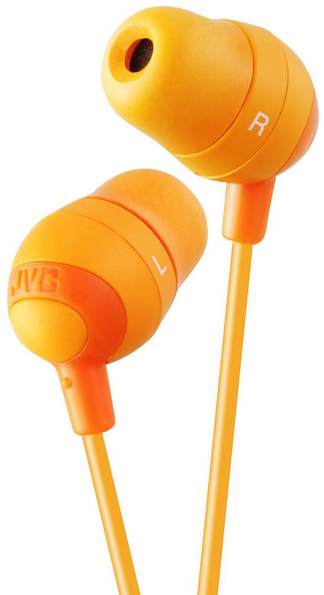 JVC Marshmallow HA-FX32-D, Yellow наушникиHA-FX32-DНаушники JVC Marshmallow HA-FX32-D овальной формы из мягкой резины обеспечивают комфортное и удобное прилегание. Благодаря неодимовому магниту, используемому в 11 мм драйверах, вы получаете качественное звучание. Наушники имеют кабель длиной 1.2 м с позолоченный штекером, также совместимым с iPhone.