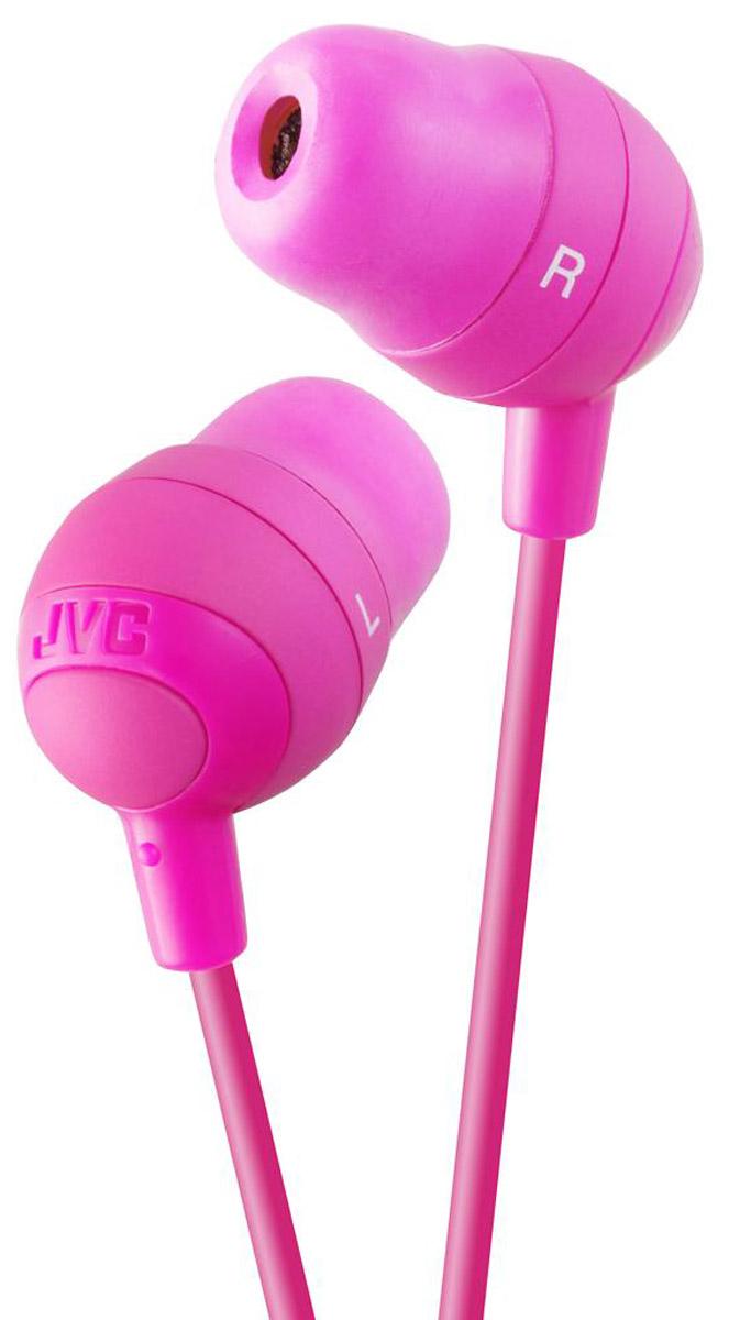 JVC Marshmallow HA-FX32-P, Pink наушникиHA-FX32-PНаушники JVC Marshmallow HA-FX32-P овальной формы из мягкой резины обеспечивают комфортное и удобное прилегание. Благодаря неодимовому магниту, используемому в 11 мм драйверах, вы получаете качественное звучание. Наушники имеют кабель длиной 1.2 м с позолоченный штекером, также совместимым с iPhone.