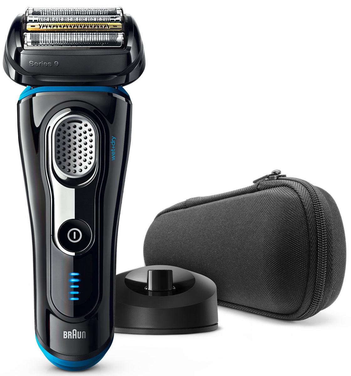 Braun Series 9 9240s Wet&Dry, Black электробритва81576496Braun Series 9 9240s Wet&Dry - одна из самых эффективных бритв в мире, а также исключительно комфортная. Специальная технология бритья позволяет захватывать больше волосков одним движением, обеспечивая гладкое и комфортное бритье без компромиссов.Преимущества:5 специальных бреющих элементов захватывают больше волосков одним движением, что позволяет уменьшить количество движений и раздражение кожиЗапатентованная технология SyncroSonic считывает и адаптируется к особенностям щетины 160 раз в секунду, повышая мощность там, где это необходимоВ комплект входит зарядная станция, которая заряжает аккумулятор и отлично дополняет интерьер ванной комнаты