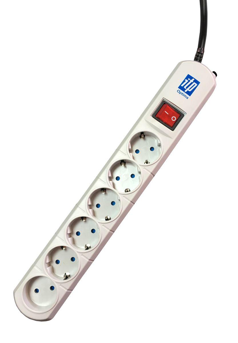 Сетевой фильтр ITP Optima OP6516, 6 розеток, 5 мOP6516Оптимальные параметры для защиты персональных компьютеров и бытовой техники. Специально разработанная электрическая схема, обеспечивает наиболее полную защиту от перепадов напряжения, короткого замыкания, наводок по сетям электропитания, пиковых бросков токов, импульсных и ВЧ помех.Сетевой фильтр содержит блок конденсаторов, симметричный дроссель, варисторный блок.Защитные шторки на розетках для безопасности Вас и Ваших детей.Оснащен автоматическим предохранителем, контролирующим состояние сети электропитания.Пять розеток евростандарта и одна бытовая розетка для надёжного подключения максимального количества устройств.Корпус сетевого фильтра ITP изготовлен из ударопрочного самозатухающего ABS пластика.Максимальный ток помехи, выдерживаемый ограничителем, А-10000Максимальная рассеиваемая энергия, Дж-400Максимальное подавление высокочастотных помех: 0,1мГц-20Дб, 1мГц – 40Дб, 10мГц-30Дб