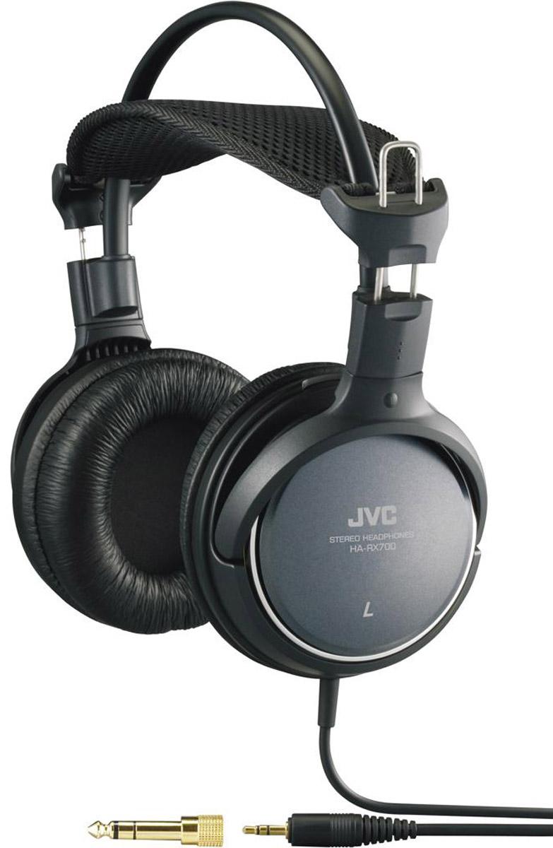 JVC HA-RX700, Black наушникиHA-RX700Полноразмерные наушники JVC HA-RX700 воспроизводят глубокое звучание басов и обеспечивают идеальный комфорт. Динамики обеспечивают высококачественное воспроизведение звука благодаря 50 мм диафрагме и неодимовому магниту, а также кольцевой структуры портов. Кольцевая структура портов обеспечивает высокое качество динамического звука. Широкая подушка для головы обеспечивает идеальный комфорт. Прочный кабель длиной 3.5 метра оснащен позолоченным штекером.