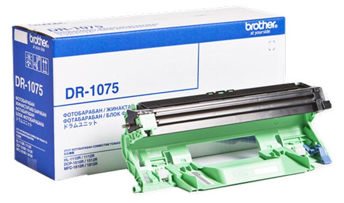 Brother DR-1075 фотобарабан для HL-1112R/DCP-1512R/MFC-1810R/MFC-1815RDR1075Блок фотобарабана Brother DR1075 предназначен для использования в моделях HL-1110R, HL-1112R, DCP-1510R, DCP-1512R, MFC-1810R, MFC-1815R, HL-1210WR, HL-1212WR, DCP-1610WR, DCP-1612WR, MFC-1912WR и рассчитан на печать до 10 000 страниц. Компания Brother усердно работает, чтобы предоставить клиентам устройства высочайшего качества.