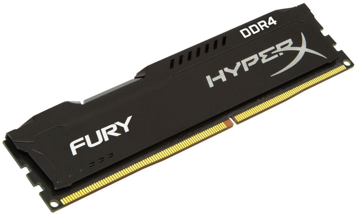 Kingston HyperX Fury DDR4 DIMM 4GB 2400МГц модуль оперативной памяти (HX424C15FB/4)HX424C15FB/4Модуль памяти HyperX FURY DDR4 автоматически разгоняется до максимальной заявленной частоты и обеспечивает максимальную производительность для системных плат с чипсетами Intel серии 100 и X99. Это недорогое решение для использования с 2-, 4-, 6- и 8-ядерными процессорами Intel повышает скорость редактирования видео, 3D-рендеринга, компьютерных игр и AI-процессинга. Его стильный низкопрофильный теплоотвод с характерным дизайном FURY сразу подчеркнет оригинальный внешний вид вашей системы.HyperX FURY DDR4 - это первая линейка продукции, предлагающая автоматический разгон до максимальной заявленной частоты. Получите максимальную скорость без необходимости ручной настройки.Низкое энергопотребление HyperX FURY DDR4 обеспечивает пониженное выделение тепла и высокую надежность. Благодаря низкому напряжению (1,2 В), снижается потребление энергии, что обеспечивает отсутствие нагрева и бесшумную работу ПК.Выделитесь из толпы и придайте своей системе стиль, добавив в нее культовый асимметричный теплоотвод FURY. Модуль памяти FURY DDR4, предлагаемый в черном цвете с черной печатной платой, дополняет системную плату с чипсетами Intel серии 100 и X99.Параметры XMP:JEDEC/PnP: DDR4-2400 CL15-15-15 @1.2V; DDR4-2133 CL14-14-14 @1.2VXMP Profile #1: DDR4-2400 CL15-15-15 @1.2V