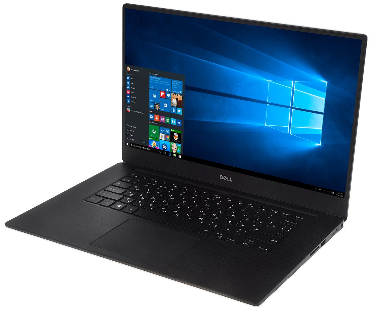 Dell XPS 15, Silver Black (9550-7920)9550-7920Представляем самый мощный ноутбук Dell XPS - это самый компактный в мире ноутбук с диагональю экрана 38,1 см (15 дюймов), в конструкции которого высочайшая производительность сочетается с потрясающим дисплеем InfinityEdge.Единственный в мире дисплей InfinityEdge с диагональю 38,1 см (15 дюймов): практически безрамочный дисплей обеспечивает максимальное доступное пространство экрана. Дисплей с диагональю 38,1 см (15 дюймов) размещается в крышке ноутбука, размеры которой соответствует традиционному экрану с диагональю 35,6 см (14 дюймов), за счет уникальной лицевой панели шириной всего 5,7 мм (на 59% уже, чем лицевая панель ноутбуков Macbook Pro). Уникальный дизайн: толщина корпуса самого легкого в мире высокопроизводительного ноутбука с диагональю экрана 38,1 см (15 дюймов) XPS 15 составляет всего 11-17 мм, а его вес с твердотельным накопителем не превышает 1,8 кг.Лучшая версия Windows на лучших системах Dell. Каков результат? Совершенно новый уровень мощности, эффективности и производительности. Windows 10 поддерживает все знакомые вам функции самой популярной операционной системы в мире, а также ряд потрясающих новых возможностей. Оптимизируйте свою работу с помощью новых функций Windows 10.Ваш личный цифровой помощник Кортана всегда к вашим услугам. Благодаря технологии Waves MaxxAudio Pro на компьютерах Dell вы сможете разговаривать с цифровым помощником Кортаной совсем как с человеком.Увеличенное время автономной работы. Работайте без подзарядки еще дольше - теперь все устройства под управлением Windows 10 автоматически экономят заряд аккумулятора, поэтому вы сможете работать дольше и эффективнее.Лучшая цветопередача в своем классе. XPS 15 - единственный ноутбук со стопроцентным минимальным покрытием цветового пространства Adobe RGB, что обеспечивает точную передачу палитры Adobe с насыщенными, яркими и глубокими цветами. А благодаря приложению Dell PremirColor веб-страницы, видео и изображения автоматически настраив