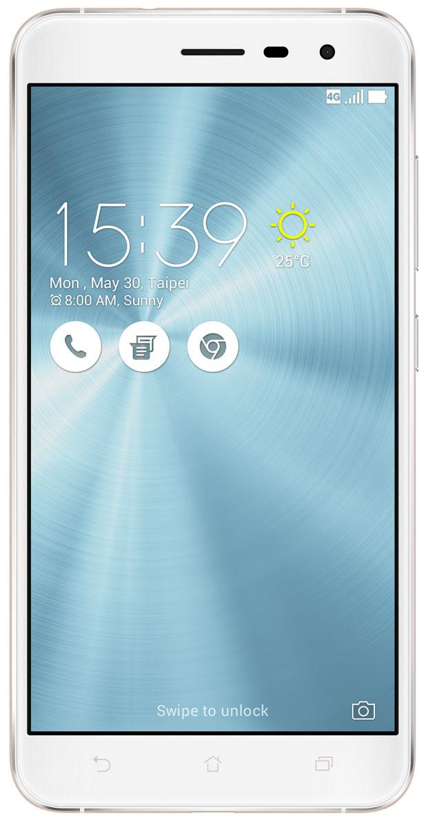 ASUS ZenFone 3 ZE552KL, Moonlight White (90AZ0122-M01150)90AZ0122-M01150ZenFone 3 - это современный смартфон с оригинальным дизайном и высококачественной камерой, который станет вашу жизнь чуть более необычной.Современный смартфон, отделанный с обеих сторон защитным стеклом безупречно выверенной формы. Тонкий корпус, который идеально ложится в ладонь. Оригинальный узор из концентрических окружностей, украшающий заднюю панель и выгравированный на кнопках, как отражение философской гармонии Дзен. Вы хотите получить совершенно новые впечатления от своего нового смартфона? Просто взгляните и прикоснитесь к ZenFone 3.ZenFone 3 - это синоним тонкой работы. Заключенный в корпус из высокопрочного стекла Corning Gorilla Glass со скругленными кромками, данный смартфон имеет толщину всего 7,69 мм. Красоту его изысканного дизайна подчеркивают акценты на боковых гранях, выполненные методом алмазной резки. Это шедевр современного инженерного искусства, которым вы никогда не устанете наслаждаться.ZenFone 3 оснащается превосходным дисплеем с диагональю 5,5, разрешением Full-HD (1920х1080 пикселей), увеличенной до 600 кд/м2 яркостью и широкими углами обзора, что обеспечивает качественное изображение даже в условиях сильного солнечного освещения. Причем благодаря сверхтонкой рамке (2,1 мм) и большой площади (более 77% от размера передней панели) экран ничуть не влияет на компактность смартфона.Технология PixelMaster 3.0 выводит фотовозможности устройств серии ZenFone 3 далеко за рамки доступного обычным смартфонам. Чтобы запечатлеть уникальную красоту окружающего мира в ее неповторимом великолепии, ZenFone 3 оснащается 16-мегапиксельным сенсором, светосильным объективом f/2.0 и системой тройной следящей автофокусировки TriTech с быстродействием от 0,03 с. Если добавить к этому высокоэффективную систему оптической и электронной стабилизации изображения, а также датчик цветокоррекции, то можно не сомневаться: четкие снимки и видеоролики с естественными, насыщенными цветами можно получи