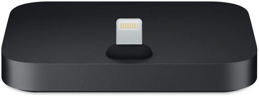 Apple iPhone Lightning Dock, Black док-станцияMNN62ZM/AДок-станция iPhone Lightning Dock позволяет заряжать и синхронизировать любой iPhone с разъёмом Lightning. Во время зарядки и синхронизации iPhone устанавливается на док-станцию вертикально, поэтому её можно расположить на любой горизонтальной поверхности. iPhone легко устанавливается на док-станцию даже в чехле от Apple. Кроме того, вы можете разблокировать iPhone и использовать Touch ID, не снимая его с док-станции. Док-станция iPhone Lightning Dock оснащена аудиовыходом, поэтому к ней можно подключить наушники с пультом управления или использовать линейный выход для активных динамиков. Кроме того, она поддерживает другие аксессуары с разъёмом Lightning, включая кабель Lightning/USB (входит в комплект поставки iPhone). Когда iPhone подключён к док-станции, вы можете даже разговаривать по громкой связи.