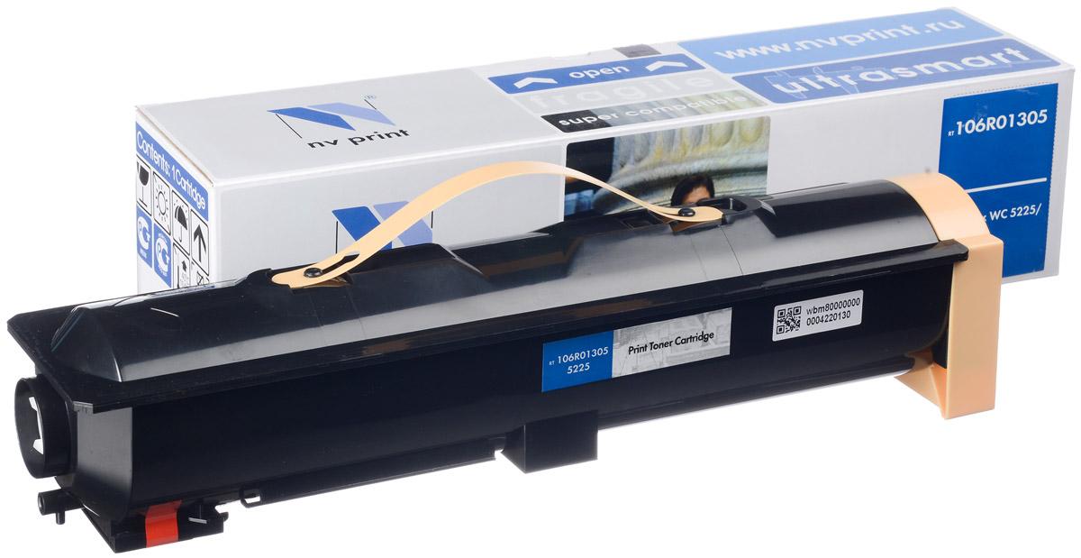 NV Print 106R01305, Black тонер-картридж для Xerox WCP 5225/5230NV-106R01305Совместимый лазерный картридж NV Print 106R01305 для печатающих устройств Xerox - это альтернатива приобретению оригинальных расходных материалов. При этом качество печати остается высоким. Картридж обеспечивает повышенную чёткость чёрного текста и плавность переходов оттенков серого цвета и полутонов, позволяет отображать мельчайшие детали изображения.Лазерные принтеры, копировальные аппараты и МФУ являются более выгодными в печати, чем струйные устройства, так как лазерных картриджей хватает на значительно большее количество отпечатков, чем обычных. Для печати в данном случае используются не чернила, а тонер.