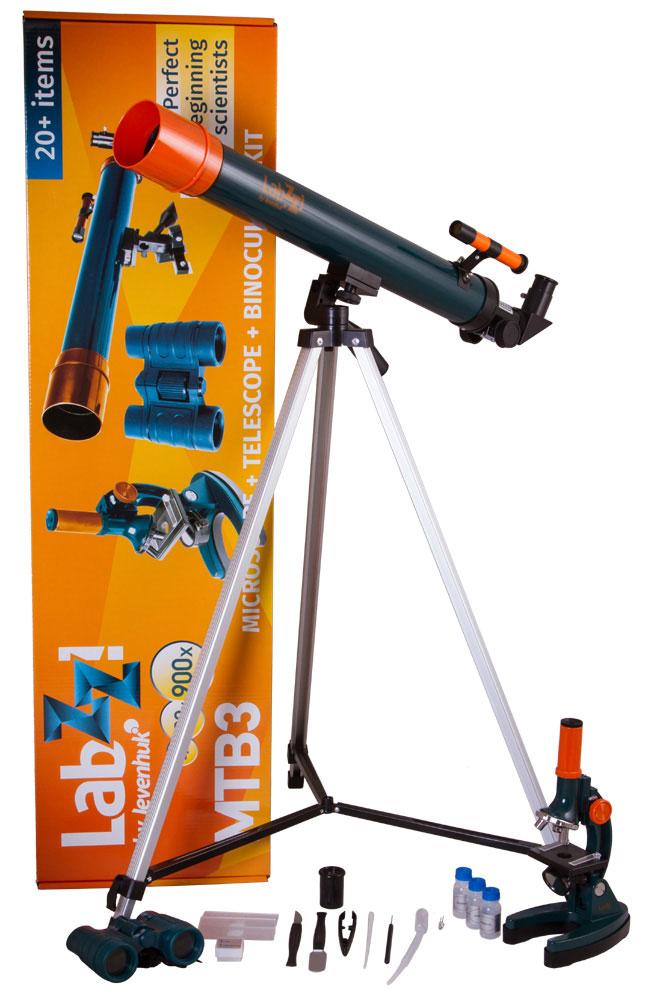Levenhuk LabZZ MTВ3 набор: микроскоп, телескоп и бинокль - Телескопы