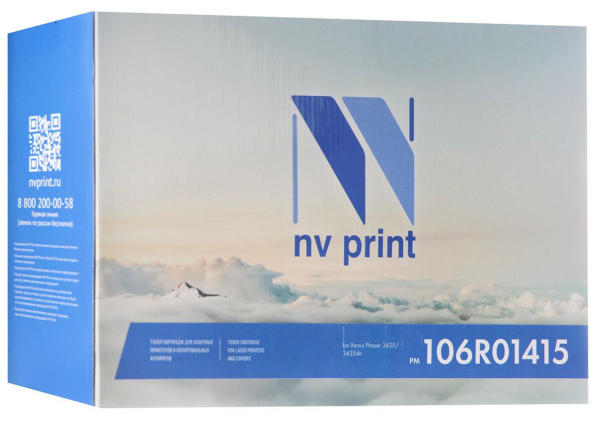 NV Print 106R01415, Black тонер-картридж для Xerox Phaser 3435/3435dnNV-106R01415Совместимый лазерный картридж NV Print 106R01415 для печатающих устройств Xerox - это альтернатива приобретению оригинальных расходных материалов. При этом качество печати остается высоким. Картридж обеспечивает повышенную чёткость чёрного текста и плавность переходов оттенков серого цвета и полутонов, позволяет отображать мельчайшие детали изображения.Лазерные принтеры, копировальные аппараты и МФУ являются более выгодными в печати, чем струйные устройства, так как лазерных картриджей хватает на значительно большее количество отпечатков, чем обычных. Для печати в данном случае используются не чернила, а тонер.