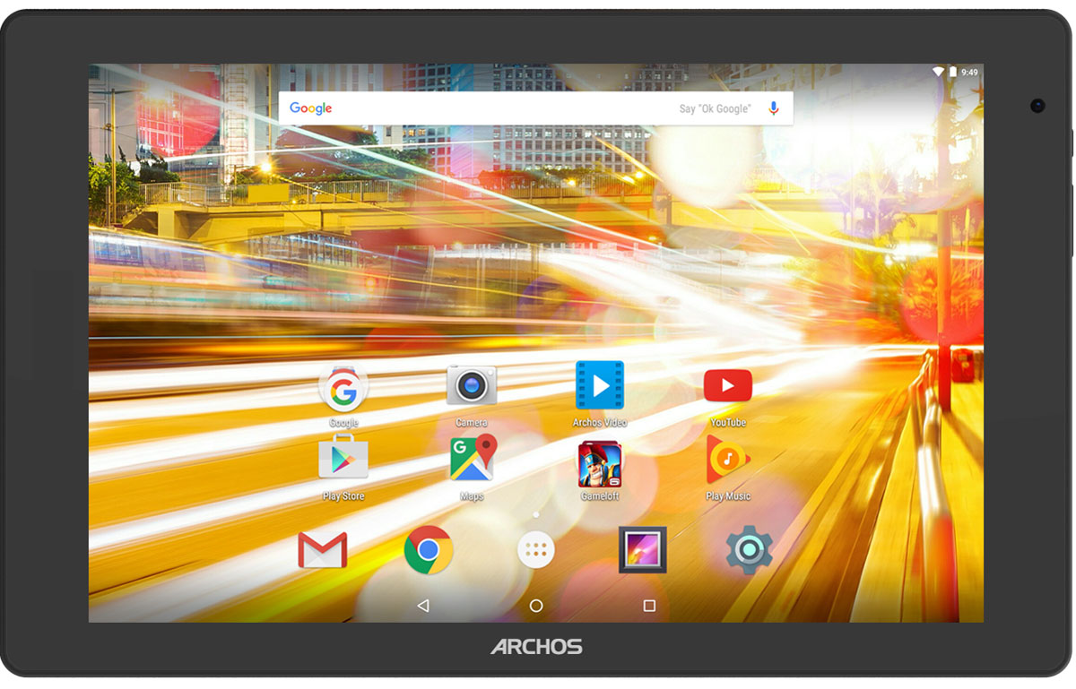 Archos 101B Oxygen101B OXYGENArchos 101B Oxygen - идеальный мультимедиа-планшет. Благодаря 10,1-дюймовому экрану с разрешением Full HD, вы получите настоящее удовольствие от просмотра фильмов и сериалов. Видео становится действительно живым!Мощный 4-ядерный процессор в Archos 101B Oxygen позволит работать с любыми приложениями максимально комфортно, не жертвуя производительностью или временем работы батареи.Работающий на платформе Android 6.0 Marshmallow Archos 101B Oxygen получил обновленный интерфейс пользователя, ставший еще более удобным и интуитивным. Marshmallow также предоставляет новые функции, такие как Google Now on Tap и многие другие.Этот планшет отражает в дизайне новейшие тренды в мире электроники. Он оптимально подходит для ежедневного использования и отличается элегантным внешним видом, что подчеркивает алюминиевый корпус.Куда бы вы ни отправились, обе камеры Archos 101B Oxygen помогут запечатлеть памятные моменты и быть рядом с любимыми. Не важно, снимаете ли вы на ходу, фотографируете пейзажи в отпуске или просто хотите быть на видео-связи с друзьями и семьей.Планшет сертифицирован EAC и имеет русифицированный интерфейс, меню и Руководство пользователя.