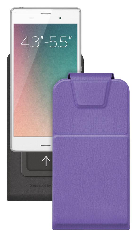 Deppa Flip Slide M универсальный чехол для смартфонов 4.3-5.5, Purple81051Deppa Flip Slide M - стильный аксессуар для смартфонов с диагональю экрана 4.3-5.5, который защитит ваше мобильное устройство от внешних воздействий, грязи, пыли, брызг. Чехол также поможет при ударах и падениях, смягчая удары, не позволяя образовываться на корпусе царапинам и потертостям. Обеспечивает свободный доступ ко всем разъемам и клавишам устройства.