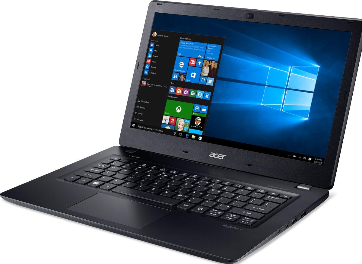 Acer Aspire V3-372, Black (V3-372-76HX)V3-372-76HXAcer Aspire V3-372 оптимизирован для потребностей современных пользователей и отличается превосходной производительностью, великолепными возможностями для развлечений, классическим дизайном. Ноутбуки Aspire V3 оснащены процессорами Intel Core и графическими адаптерами Intel HD Graphics, что гарантирует отличную производительность для работы в многозадачном режиме, комфортный просмотр фильмов и потокового видео высокой четкости.Отличие хороших ноутбуков от превосходных заключается в стильном и функциональном дизайне. Алюминиевая крышка и нанолитографический узор придают стиль этой прекрасной легкой конструкции ноутбука Acer Aspire V3.Ноутбук Aspire V3оснащен большим количеством портов и подключений, свозможностью зарядки через USB при выключенном питании: USB Type-C, беспроводное соединение 802.11ac и беспроводная технология MU-MIMO обеспечивают дополнительное удобство и высокую скорость подключения к интернету.Внешний вид это еще не все! Ноутбук Aspire V3 может работать 8 часов без подзарядки, он оснащен процессором Intel Core 6-го поколения и 4 ГБ оперативной памяти, что позволит вам эффективно работать, даже если рядом нет розетки.Оцените улучшенную реализацию Cortana для Windows, а также аппаратные средства, сертифицированные для Skype for Business. Наслаждайтесь превосходным звучанием фильмов и музыки с Dolby Audio. Аудиосистемы этого устройства идеально настроены и доведены до совершенства.Точные характеристики зависят от модели.Ноутбук сертифицирован EAC и имеет русифицированную клавиатуру и Руководство пользователя.