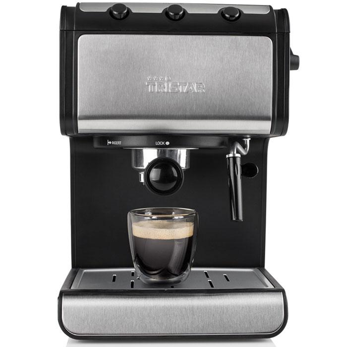 Tristar CM-2273, Black Grey кофеваркаCM-2273Tristar CM-2273 - отличная кофеварка для приготовления эспрессо в домашних условиях в любое время суток. Благодаря насадке-вспенивателю вы сможете также сделать великолепную молочную пенку для капучино, латте макиато и эспрессо макиато. Противоскользящие ножки обеспечивают устойчивое положение кофеварки на любой поверхности.