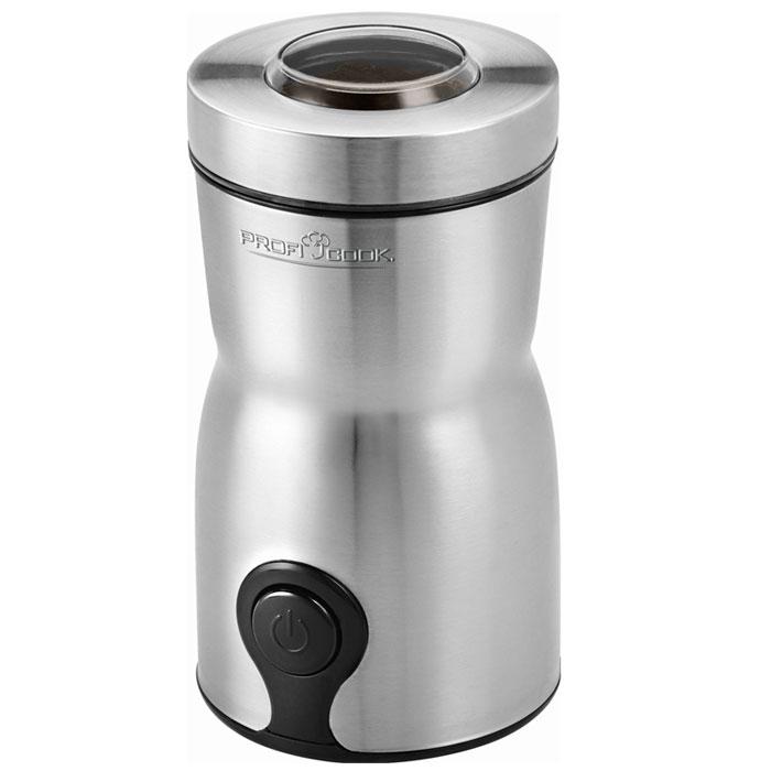 Profi Cook PC-КSW 1093, Silver кофемолкаPC-КSW 1093Электрическая кофемолка Profi Cook PC-KSW 1093 имеет мощность 160 Вт, вмещает 60 г зернового кофе и обеспечивает качественный, равномерный и быстрый помол. Степень помола регулируется длительностью работы кофемолки. Так как в крышке есть смотровое окно, будет легко определить необходимое время помола. Контейнер для кофе прочно закрывается, сохраняя аромат свежемолотых зерен.Кофемолка безопасна в использовании – она включится только с правильно установленной крышкой. Корпус данной модели выполнен из прочной нержавеющей стали – гигиеничного и долговечного материала. Стильный дизайн модели делает кофемолку украшением кухонного интерьера.