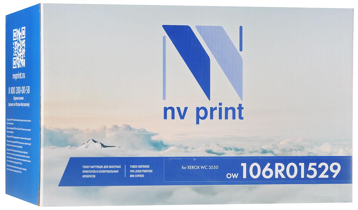 NV Print 106R01529, Black тонер-картридж для Xerox WC 3550NV-106R01529Совместимый лазерный картридж NV Print 106R01529 для печатающих устройств Xerox - это альтернатива приобретению оригинальных расходных материалов. При этом качество печати остается высоким. Картридж обеспечивает повышенную чёткость чёрного текста и плавность переходов оттенков серого цвета и полутонов, позволяет отображать мельчайшие детали изображения.Лазерные принтеры, копировальные аппараты и МФУ являются более выгодными в печати, чем струйные устройства, так как лазерных картриджей хватает на значительно большее количество отпечатков, чем обычных. Для печати в данном случае используются не чернила, а тонер.