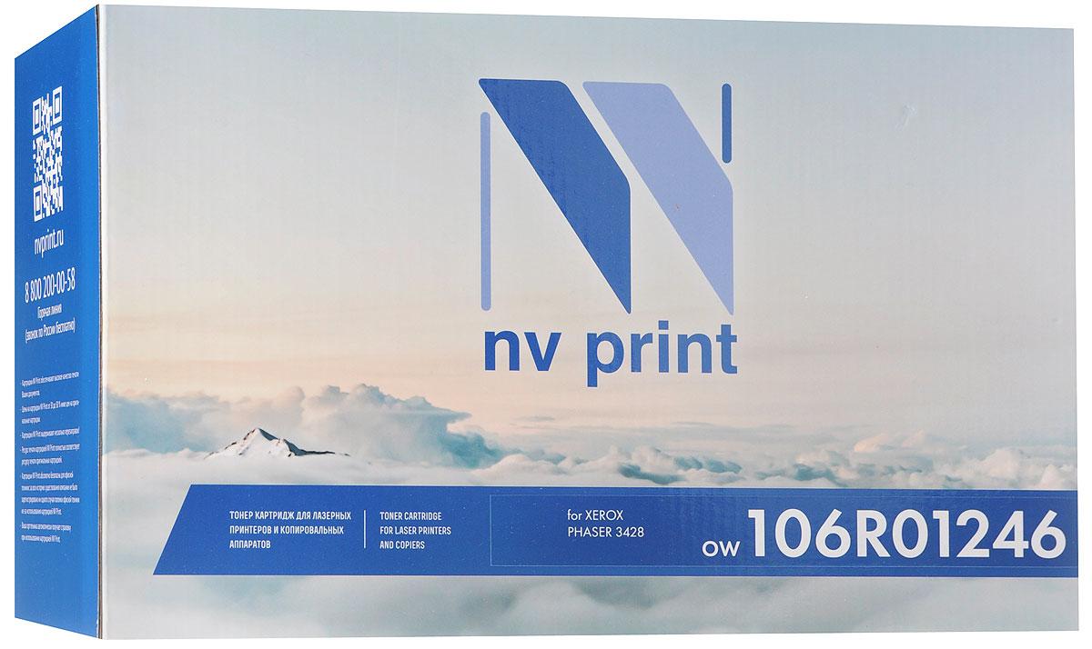 NV Print 106R01246, Black тонер-картридж для Xerox Phaser 3428NV-106R01246Совместимый лазерный картридж NV Print 106R01246 для печатающих устройств Xerox - это альтернатива приобретению оригинальных расходных материалов. При этом качество печати остается высоким. Картридж обеспечивает повышенную чёткость чёрного текста и плавность переходов оттенков серого цвета и полутонов, позволяет отображать мельчайшие детали изображения.Лазерные принтеры, копировальные аппараты и МФУ являются более выгодными в печати, чем струйные устройства, так как лазерных картриджей хватает на значительно большее количество отпечатков, чем обычных. Для печати в данном случае используются не чернила, а тонер.