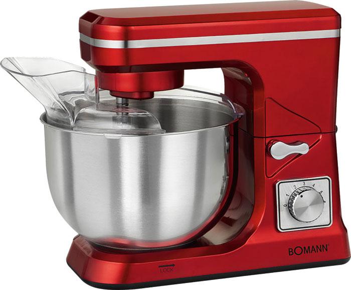 Bomann KM 1393 CB, Red кухонный комбайнKM 1393 CB rotКухонный комбайн Bomann KM 1393 CB станет прекрасным помощником для любой хозяйки С ним вы сможете готовить невероятно вкусные и аппетитные блюда, при этом сократив время их приготовление. Основным назначением прибора является изготовление различных видов теста и кремов. Прибор качественно и быстро перемешивает различные ингредиенты, что дает возможность избежать комочков.Bomann KM 1393 CB снабжен чашей из нержавеющей стали и механической системой управления. 6 скоростей замешивания, включая импульсный режим, обеспечат наилучший результат.Поворотный рукав на 35°Чаша из нержавеющей сталиБыстрозажимной патронЛегко разбирается для мытья и чистки