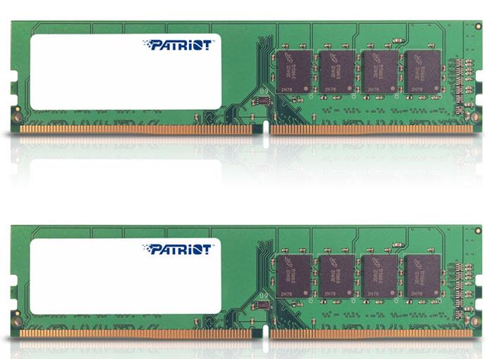 Patriot DDR4 DIMM 2x8GB 2133МГц комплект модулей оперативной памяти (PSD416G2133KH)PSD416G2133KHКомплект небуферезированной памяти Patriot DDR4 PSD416G2133KH предоставляет качество работы, надежность и производительность - основные требования для современных компьютеров. Эти модули, суммарной емкостью 16 ГБ, спроектированы для работы на частоте 2133 МГц PC4-17000 и таймингах CAS 15 для лучшего отклика системы при использовании необходимых приложений.Модули памяти Patriot изготовлены из материалов высочайшего качества ипротестированы вручную. Patriot заверяет, что каждый модуль памяти соответствует и превышает стандарты отрасли: апгрейд безо всяких замешательств.