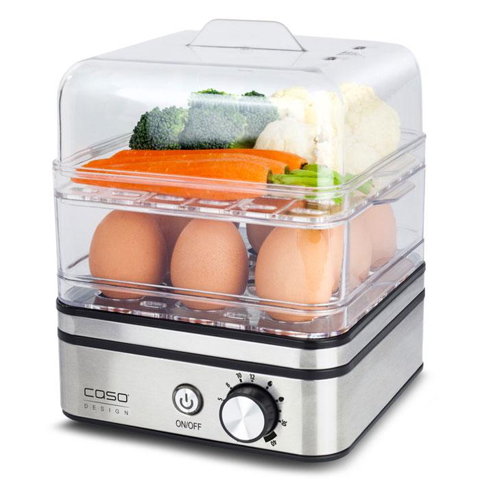 CASO ED 10, Silver яйцеваркаED 10Яйцеварка CASO ED 10 предназначена для приготовления до 8 яиц, а также в качестве пароварки для бережного приготовления рыбы, овощей, картофеля и других продуктов.Электронное регулирование времени приготовленияЗащита от выкипанияАнтипригарное покрытие варочной емкостиПрозрачная пластиковая крышкаЗвуковой сигнал по окончании времени приготовления
