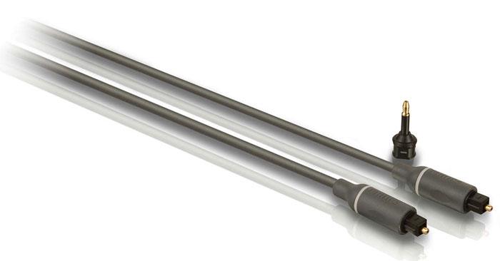 Philips SWA4302S/10 оптоволоконный кабель, 1.5 мSWA4302S/10Кабель Philips SWA4302S/10 позволяет выполнять качественную передачу звука. Обеспечивает наилучшее качество соединения для передачи цифровых аудиосигналов между компонентами.Оптически чистый световод передают цифровую информацию на компоненты системы для безупречного HD-звукаЛитые штекеры обеспечивают надежное соединение компонентов и дополнительную прочностьНескользящий захват делает установку компонентов эргономичной и удобнойГибкая полихлорвиниловая оболочка обеспечивает защиту сердечника кабеля. Служит также для дополнительной прочности и удобства установкиКонструкция без свинца из экологически чистых материалов