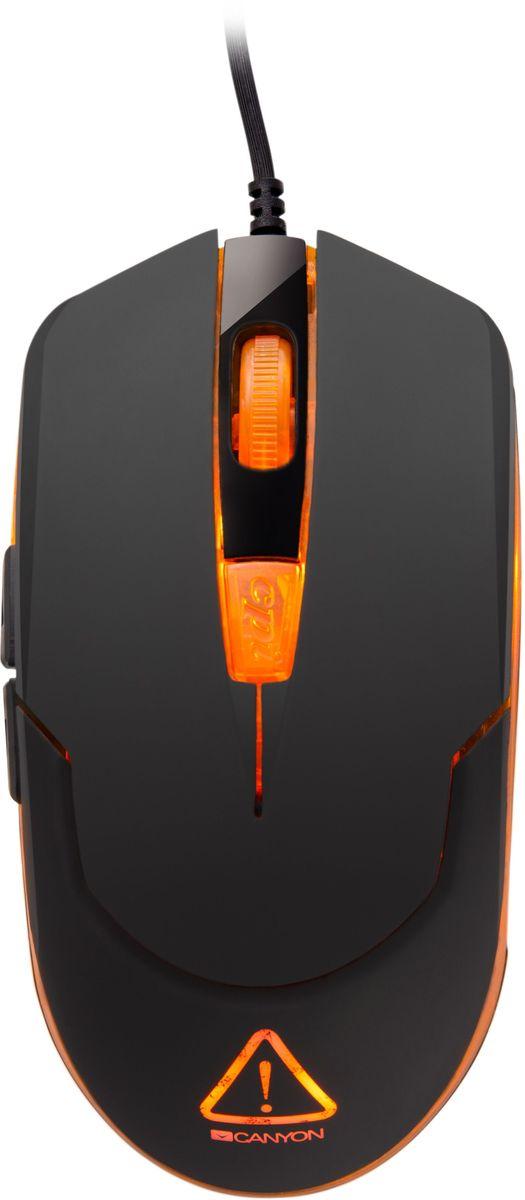 Canyon Star Raider игровая мышь (CND-SGM1)CND-SGM1Простая и удобная мышь для уверенных побед. Оптимальная производительность Canyon Star Raide подойдет как геймеру, так и ценителю продвинутых ПК-аксессуаров. Стабильная работа, идеальная точность курсора, которую обеспечивает оптический сенсор новейшего поколения Sunplus, 6 программируемых кнопок делают эту мышь отличным вариантом для любителей игр.Играйте при любом освещении, и даже в полной темноте для большей атмосферности – яркая подсветка позволит с легкостью пользоваться мышью в любых условиях.Качественный оптический сенсор обеспечивает высокую точность управления курсором и позволяет во время игры переключаться между 4 уровнями разрешения: 800/1200/1600/2400. Мышь укомплектована драйвером для персональных настроек пользователя.Драйвер мыши позволяет настраивать персональные команды кнопок под вашего игрового персонажа. Кнопки рассчитаны на более 5 млн нажатий, и созданы из надежного механизма с быстрым откликом.Благодаря прорезиненной поверхности, мышь надежно фиксируется в руке. Технология Canyon Twin Surface повышает долговечность покрытия и защищает устройство от повреждений и царапин.Специально разработанный драйвер даст вам неограниченные возможности для персональных настроек игры в любом жанре. Вы сможете создать профиль игрока, назначить макросы, изменить назначение кнопок, скорость отклика, DPI. Интерфейс драйвера мыши переведен на многие языки.
