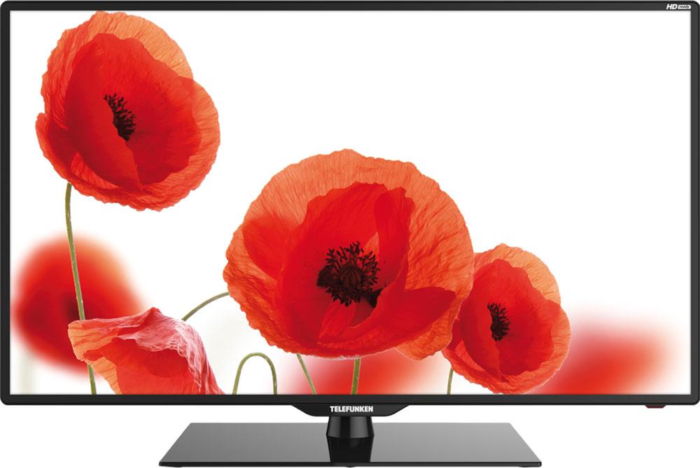 Telefunken TF-LED39S6T2, Black телевизорTF-LED39S6T2(ЧЕРНЫЙ)39 (99 см) телевизор Telefunken TF-LED39S6T2 выглядит одновременно внушительным и элегантным. Конструкция легкая и плоская, с возможностью установки двумя способами: стандартным - на оригинальную подставку, или же с помощью специального настенного крепления.Для модели TF-LED39S6T2 возможно воспроизведение мультимедийных файлов (фото, видео, музыка) с различными звуковыми и видеокодеками (JPEG, MP3, AVI, MP4, MKV, Xvid. H.264), в том числе Dolby Digital (AC3) через USB-порт. Также к модели возможно одновременное подключение до 3-х источников HDMI. 2 динамика суммарной мощностью 16 Вт обеспечивают необходимое звуковое сопровождение.Несмотря на то, что собственное разрешение составляет 1366 x 768 (HD Ready) телевизор способен отобразить изображение большего разрешения (Full HD), преобразовав в собственное.Тюнер телевизора обеспечивает прием как аналогового так и эфирного (DVB-T/T2), а также кабельного (DVB-С) вещания. В своём арсенале данная модель имеет такие опции как Sleep timer и программирование имени каналов. А в режиме цифрового ТВ доступна функция PVR, которая позволит записать на внешний носитель интересующую вас программу по таймеру. Объем памяти позволяет сохранить настройки 100 аналоговых и 1000 цифровых каналов.